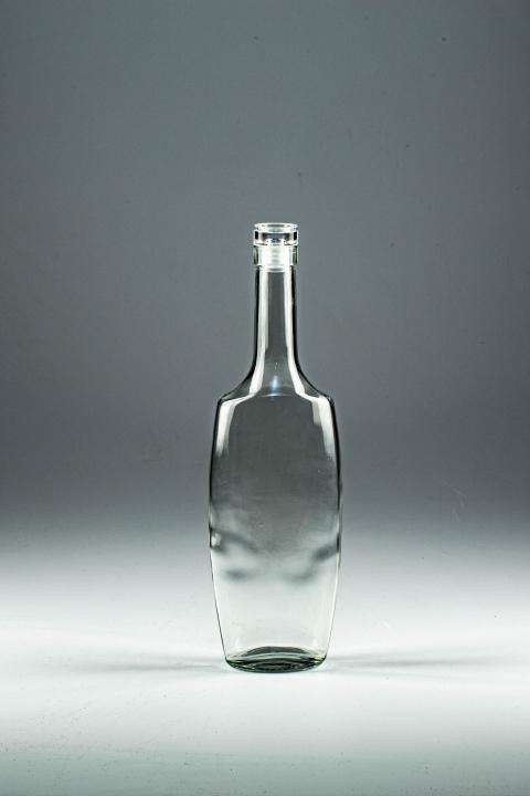 """Бутылка """"Эвелина"""" с пробкой 0.5 л. Стеклянная бутыль для водки, самогона, коньяка, виски 500 мл"""