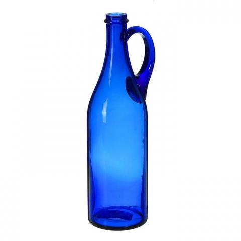 Бутыль 1 лит с РУЧКОЙ СИНЯЯ