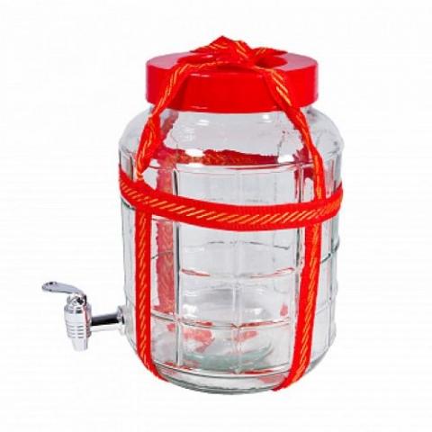 Бутыль GL с гидрозатвором и краном 25 л.