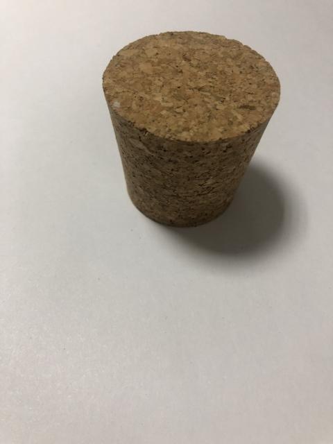 Пробка натуральная коническая CP7 Ø 45x37 mm - агломерированная