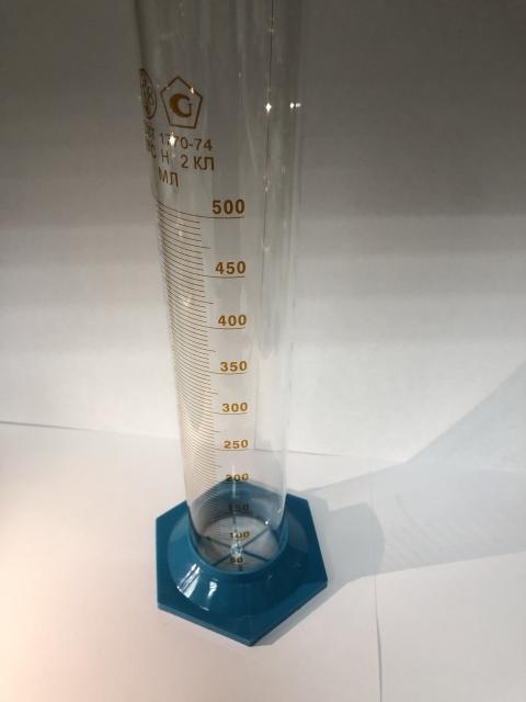 Цилиндр мерный 3-500-2 на пл.осн