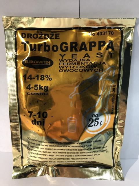 Дрожжи спиртовые TURBO GRAPPA 120 г EAN