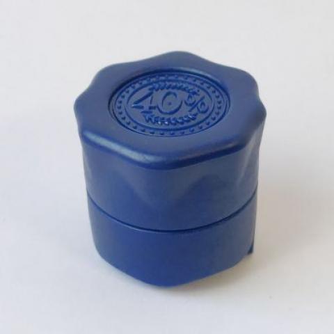 """Пробка """"Абсолют синяя"""" полимерная с фиксатором"""