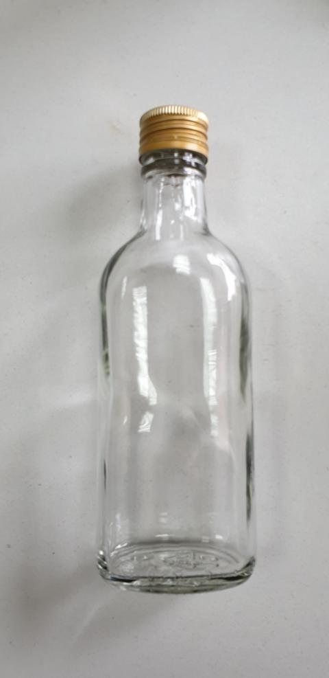 """Бутылка """"Фляга"""" 0,250 л. + винтовая крышка В-28"""