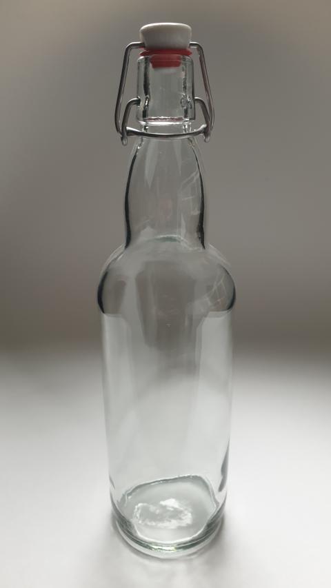 Бутылка пивная бугель 1,0 л бесцветная