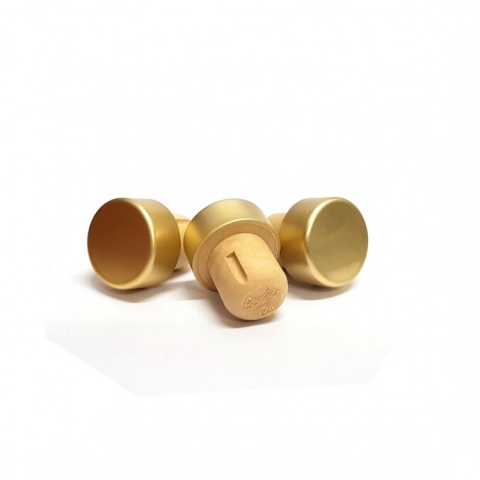 Пробка Т-образная полимерная двухкомпонентная золото (шапка 29-11, ножка 19-21)