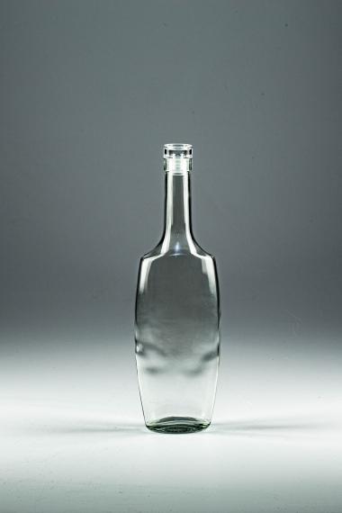 """Бутылка """"Эвелина"""" с пробкой 0.5 литра. Стеклянная бутыль для водки, самогона, коньяка, виски 500 мл"""