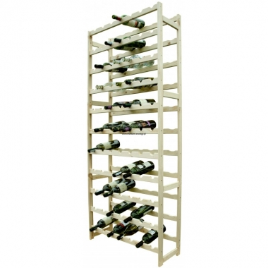 Деревянный стелаж для 77 бутылок вина