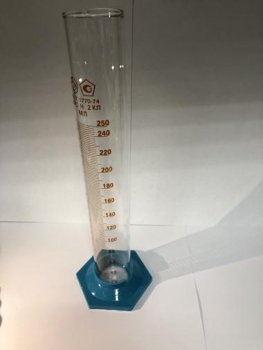 Цилиндр мерный 3-250-2 на пл.осн.