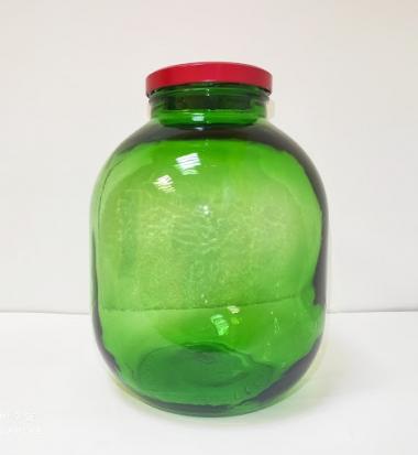 Стеклобанка - 7,5л  зелёная ТО 110+ крышка