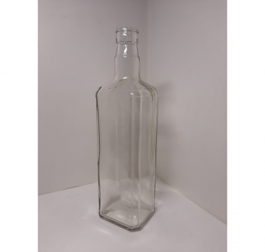 Бутылка Штоф гуала 0.7л. Стеклянная бутыль для хранения крепких спиртных напитков 700мл