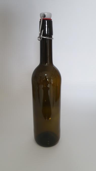 Бутылка винная бугель 0,75 л оливка