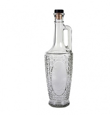 "Бутылка фигурная ""777"" прозрачная 0.75 литра. Стеклянная бутыль для вина 750 мл"