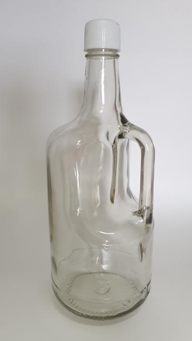 Кувшин 1,75л. Стеклянная бутылка для напитков 1750мл